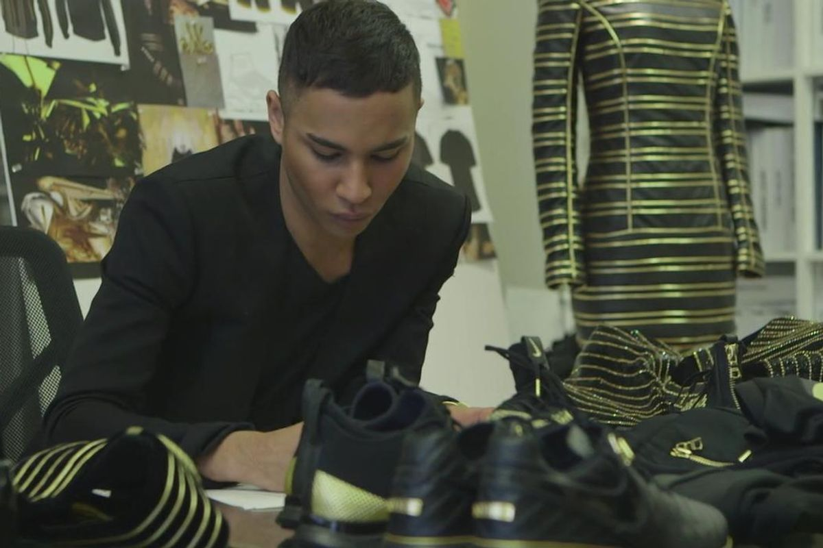 Peep Olivier Rousteing's Flashy New Collection For Nike