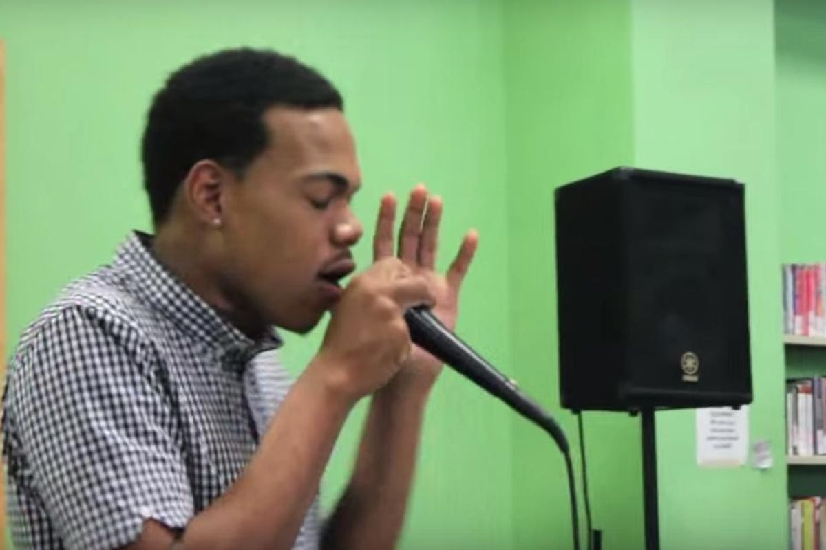 Watch A 17-Year-Old Chance The Rapper Perform 'Nostalgia' At An Open Mic