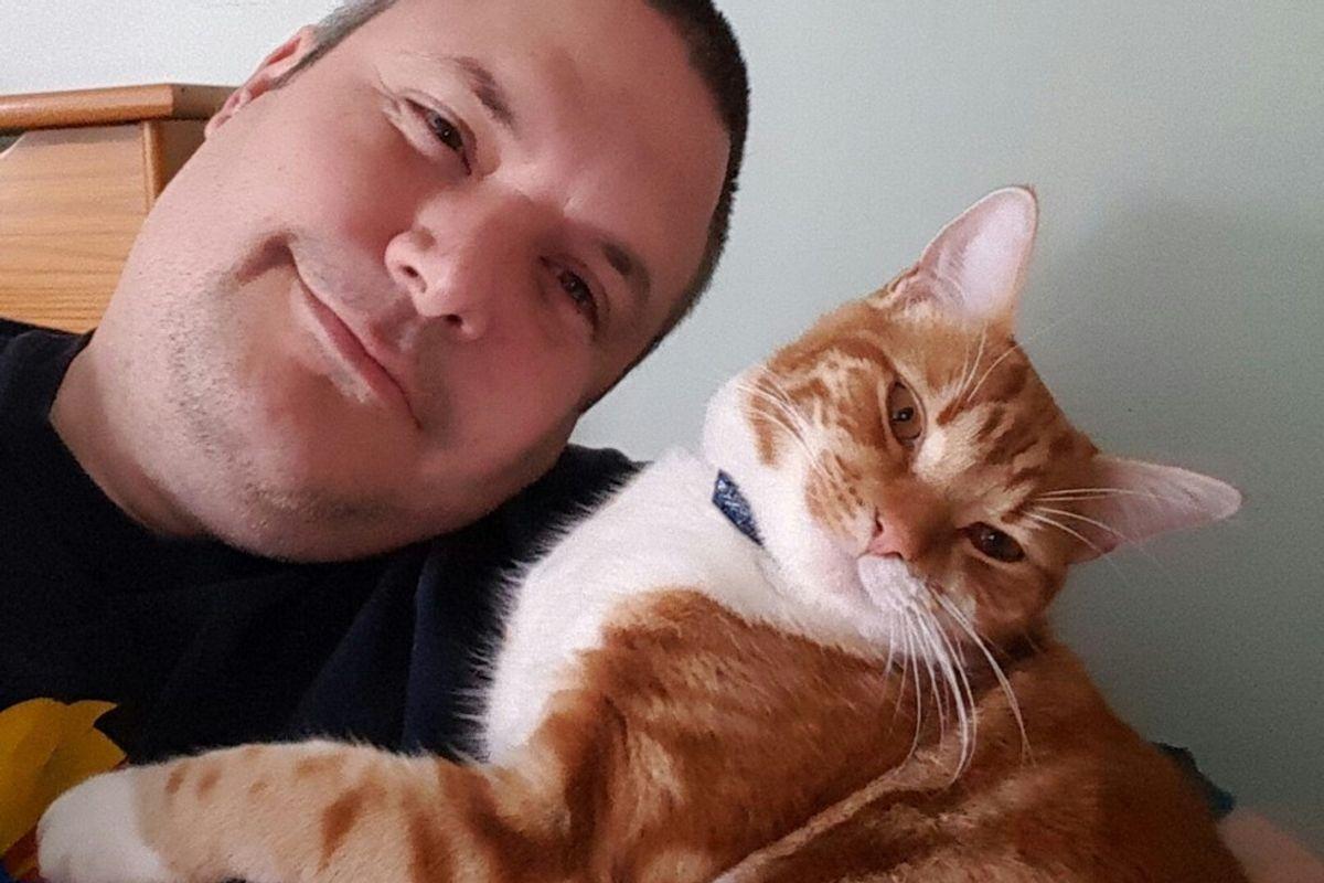 Cat Heals Man from a Broken Heart, They Even Look Alike