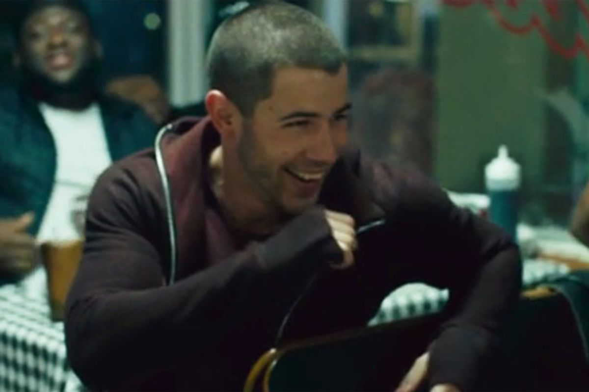 "Nick Jonas Debuts Video For New Single, ""Bacon"""
