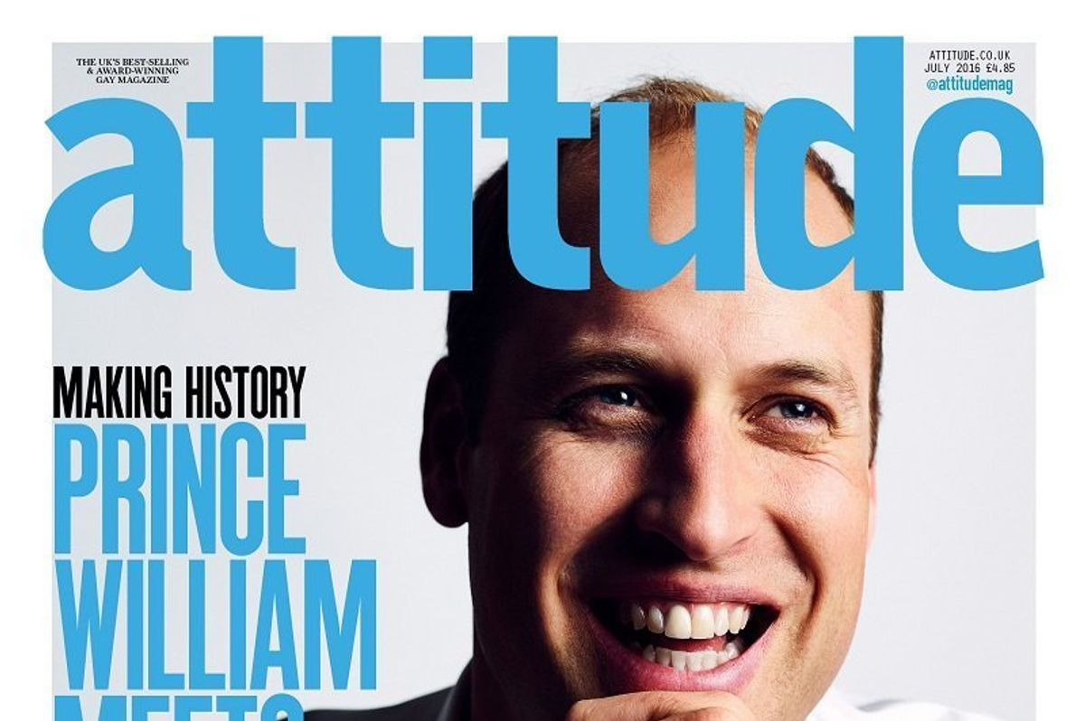 Prince William Makes History As First British Royal To Appear On A Gay Magazine Cover