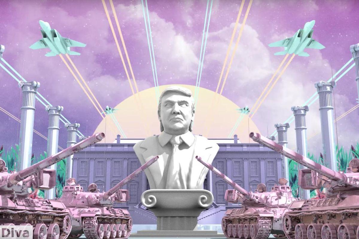 Watch This Weird, Vaporwavey Donald Trump Propaganda