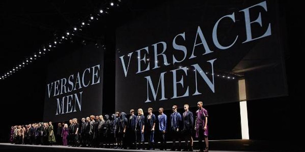 Donatella Plays Unreleased Prince Tracks At The Versace Menswear Presentation