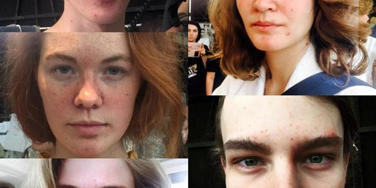 Moto Guo Used Models With Acne At His Milan Men's Fashion Show