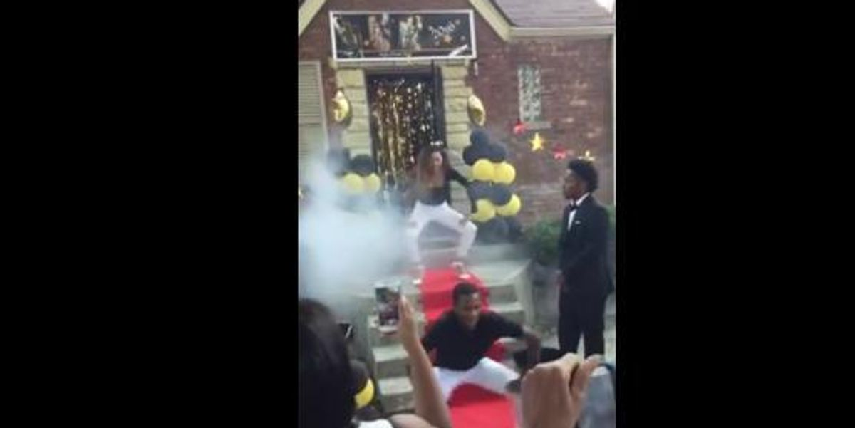 "Girl Enlists Friends to Recreate Beyoncé's ""Formation"" Choreography For Her Prom Entrance"
