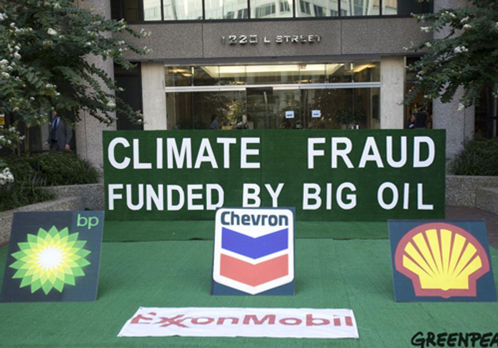Undercover Activists Disrupt 'Vote 4 Energy' Ad Campaign