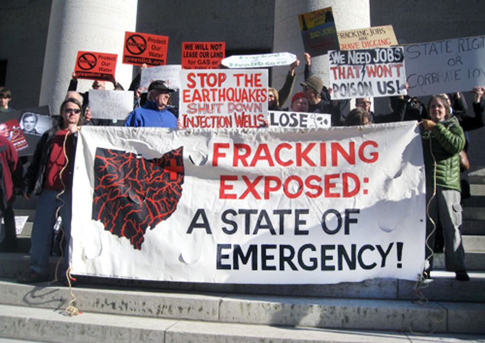 Ohioans Demand Fracking Moratorium at Ohio Statehouse Rally