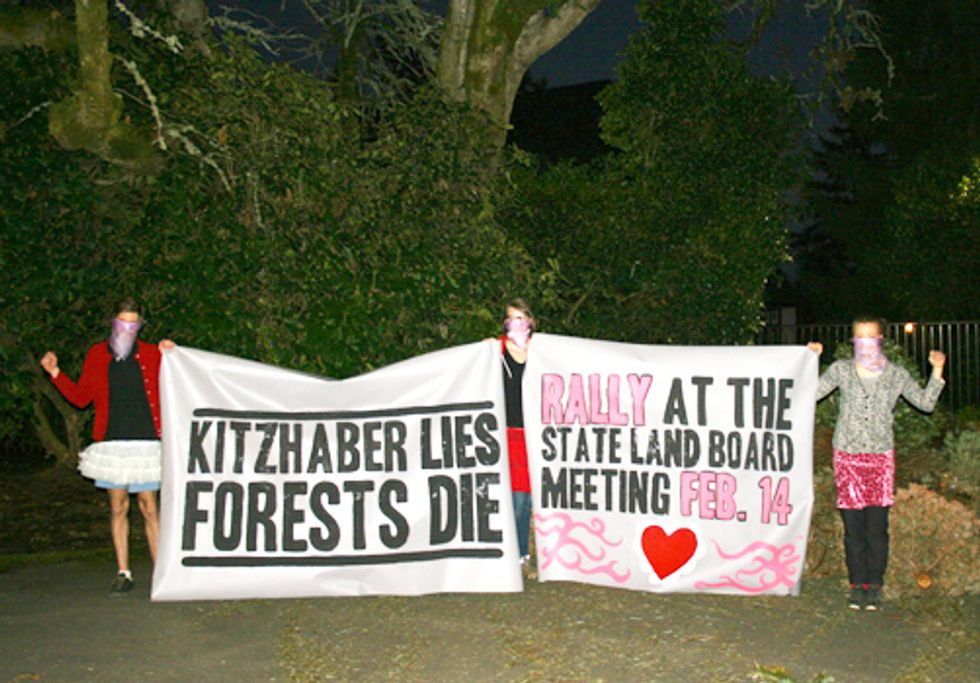 Cascadia Forest Defenders Blockade Governor's Mansion