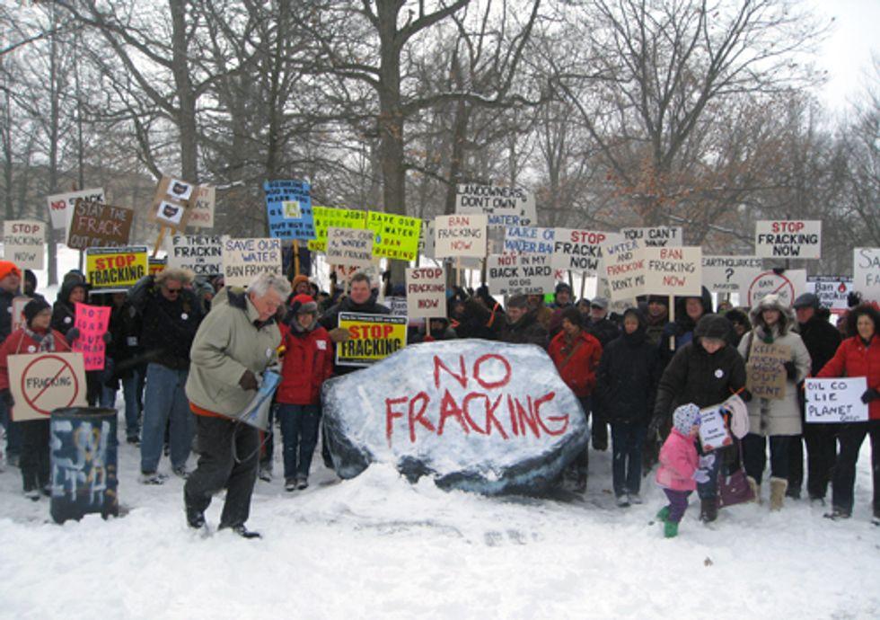 Anti-Fracking Rally in Kent, Ohio