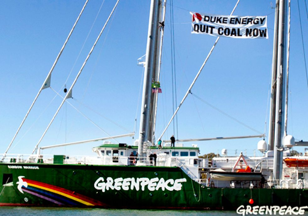 Greenpeace Announces Campaign to Make Duke Energy the Clean Energy Company the U.S. Deserves