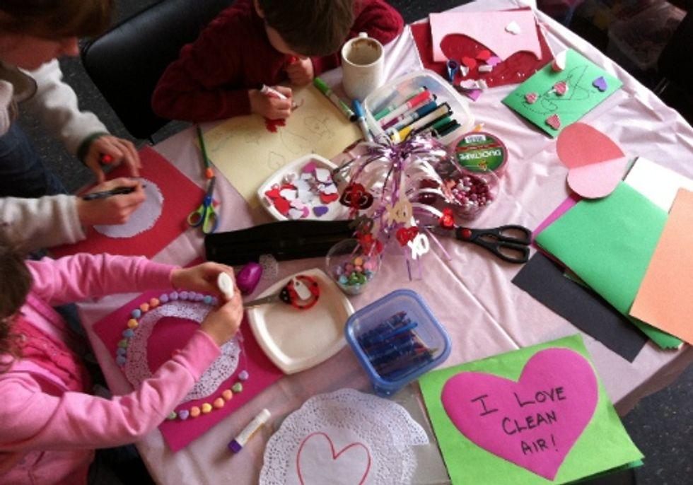 Kids and Parents Make 'I Love Clean Air' Valentine's Day Cards for U.S. Senators