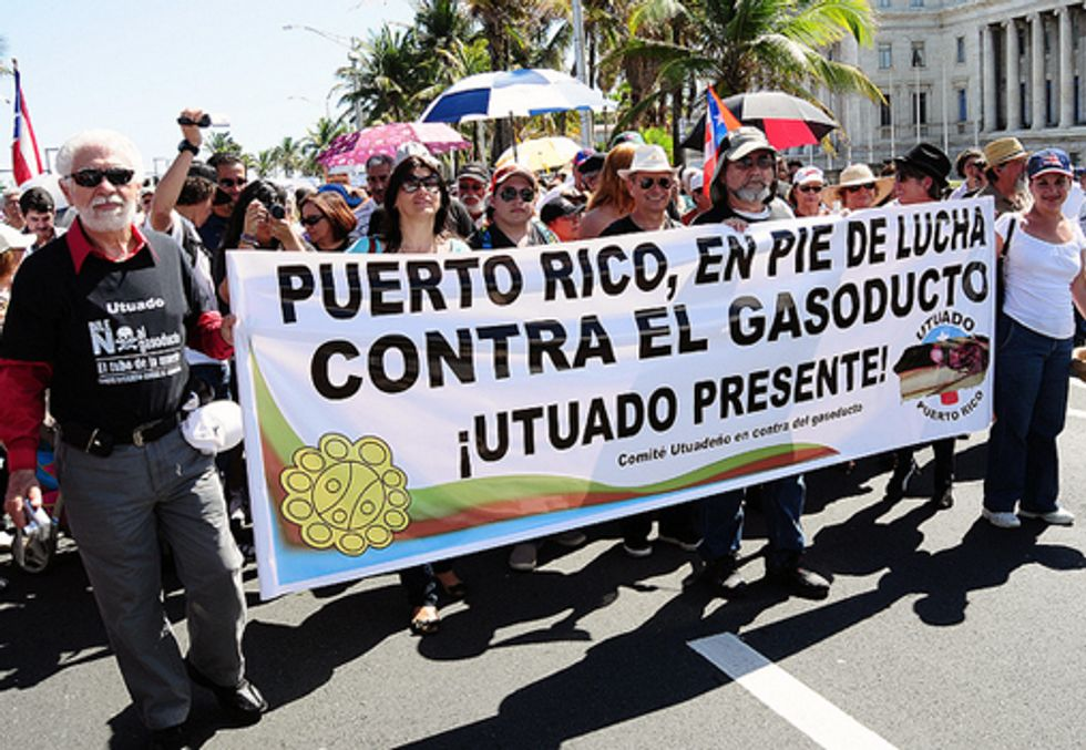 Puerto Ricans Protest Proposed Gas Pipeline