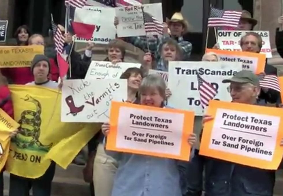 Protesters to Keystone XL Pipeline: Don't Mess With Texas