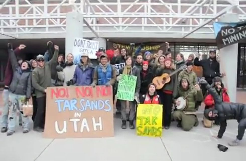 Earth First! Protests Tar Sands Plans in Utah