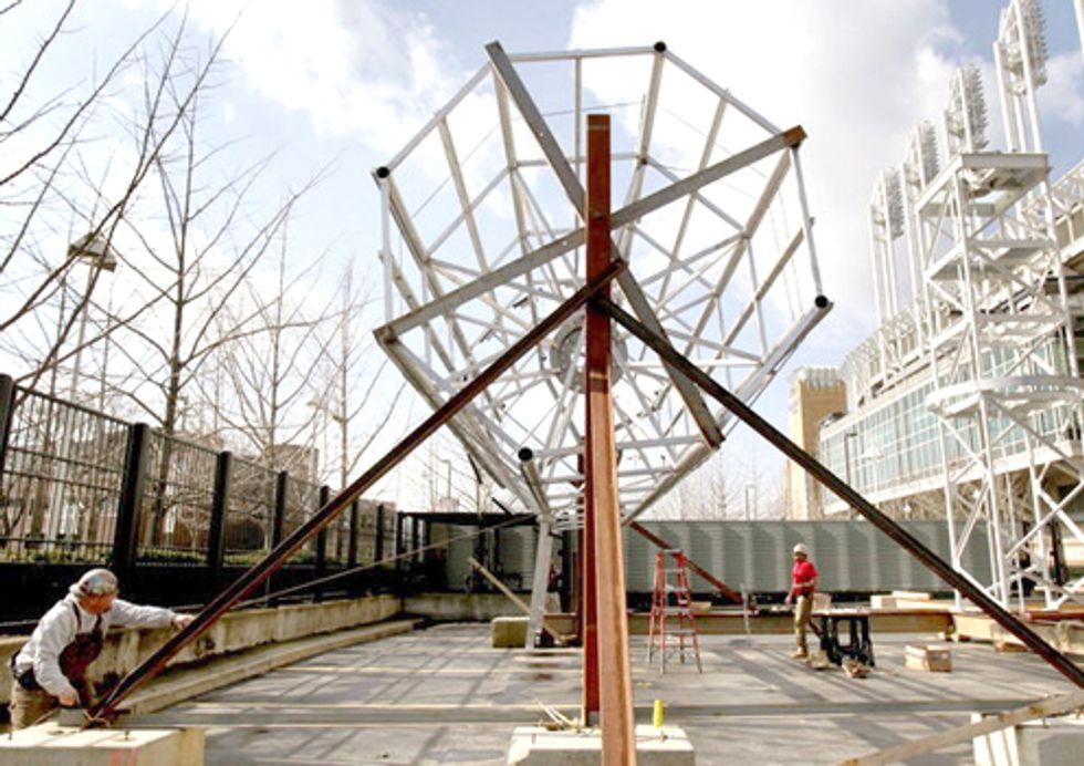 Cleveland Indians Unveil Wind Turbine atop Progressive Field