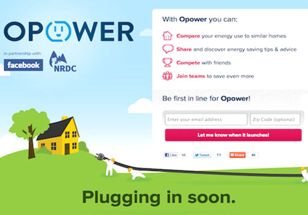 Facebook, NRDC and Opower Join to Drive Energy Efficiency through Social Media