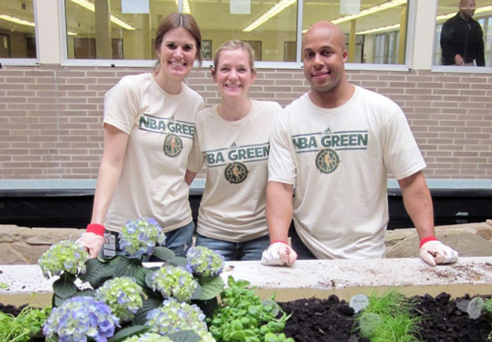 The Cleveland Cavaliers Celebrate Fourth Annual 2012 NBA Green Week April 4 - 11