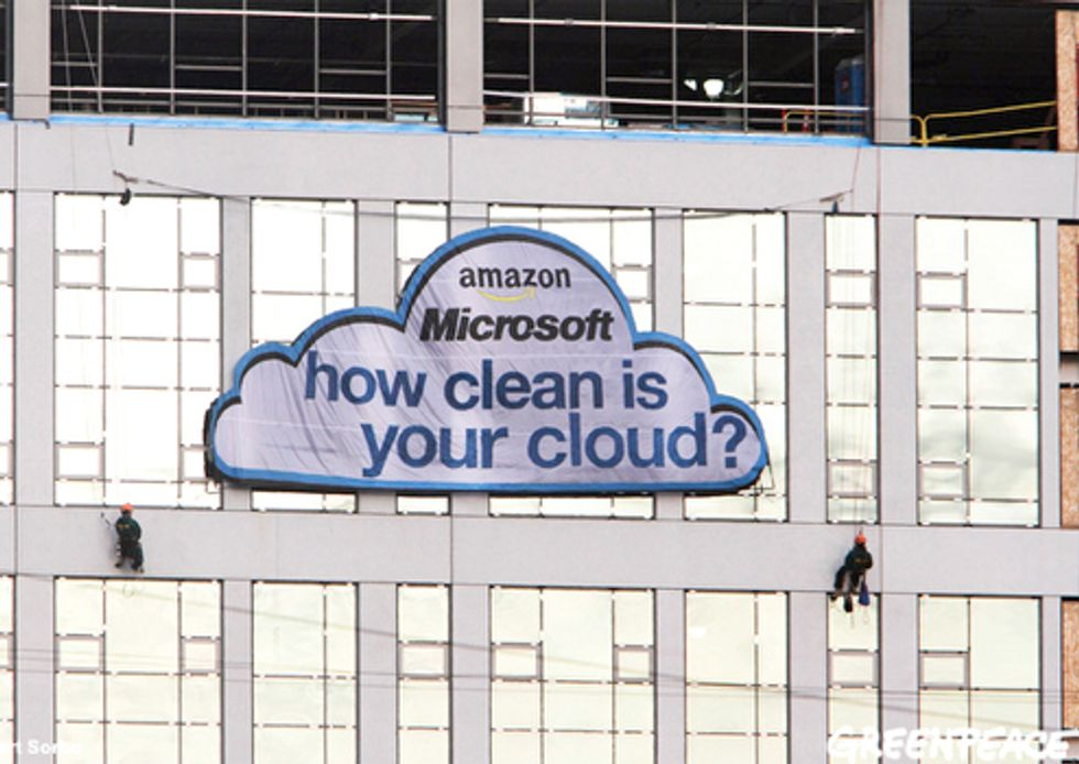 Activists Float Question to Amazon and Microsoft: How Clean Is Your Cloud?