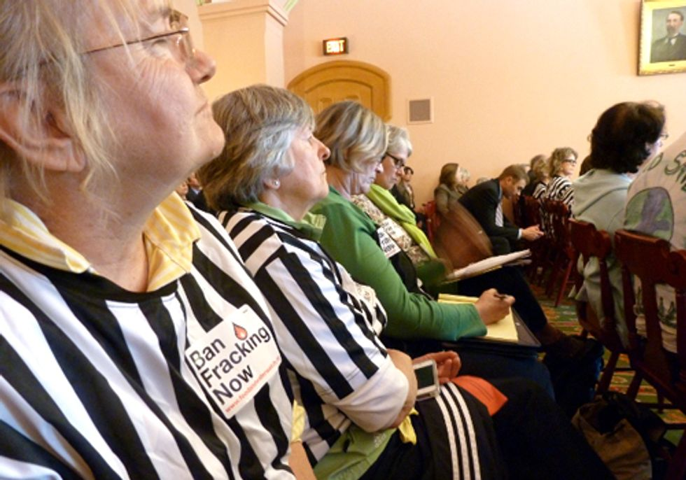 Citizen Referees Storm Ohio Statehouse Hearing over Stonewalled Fracking Bills