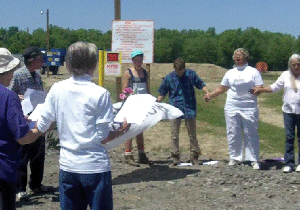 Concerned Residents Hold Church Service at New Fracking Wastewater Injection Well Site