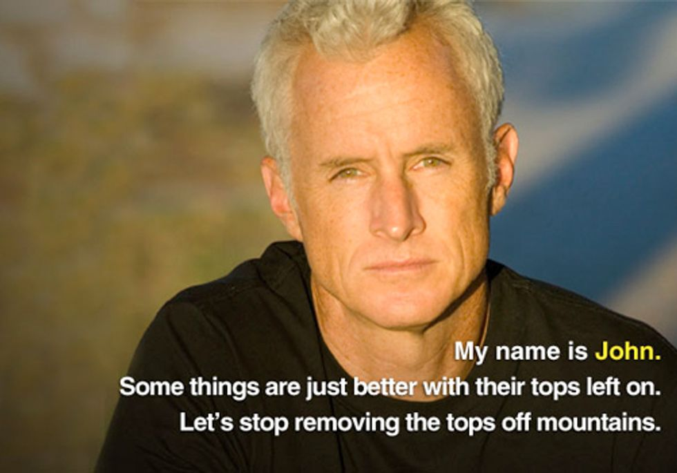 Celebrities and Public Join 'Mountain Heroes' Campaign to Stop Mountaintop Removal Mining