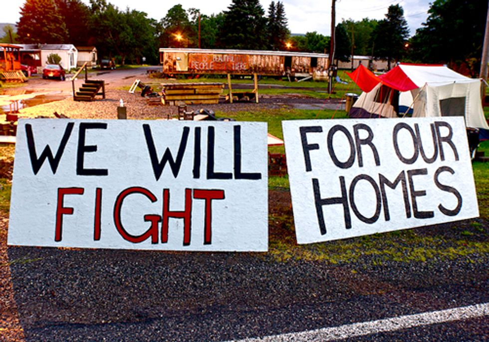 Protest Against Fracking Industry Continues at Riverdale Mobile Home Park