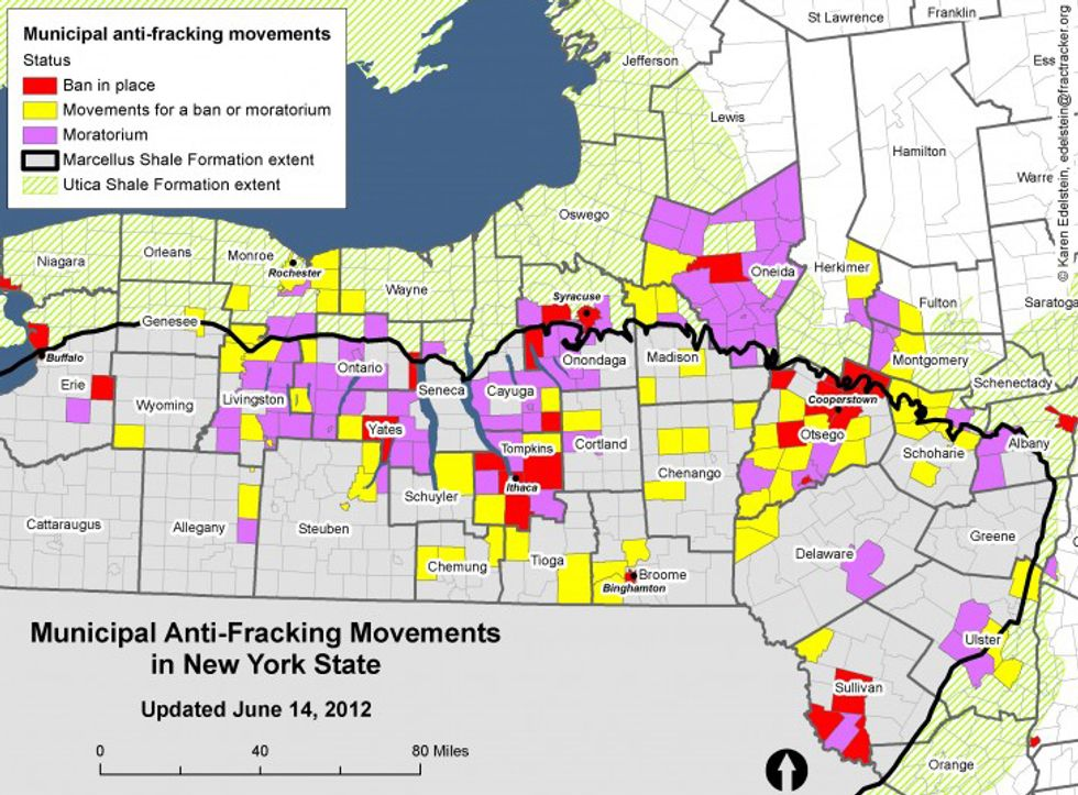 Movement to Ban Fracking Sweeps Upstate New York