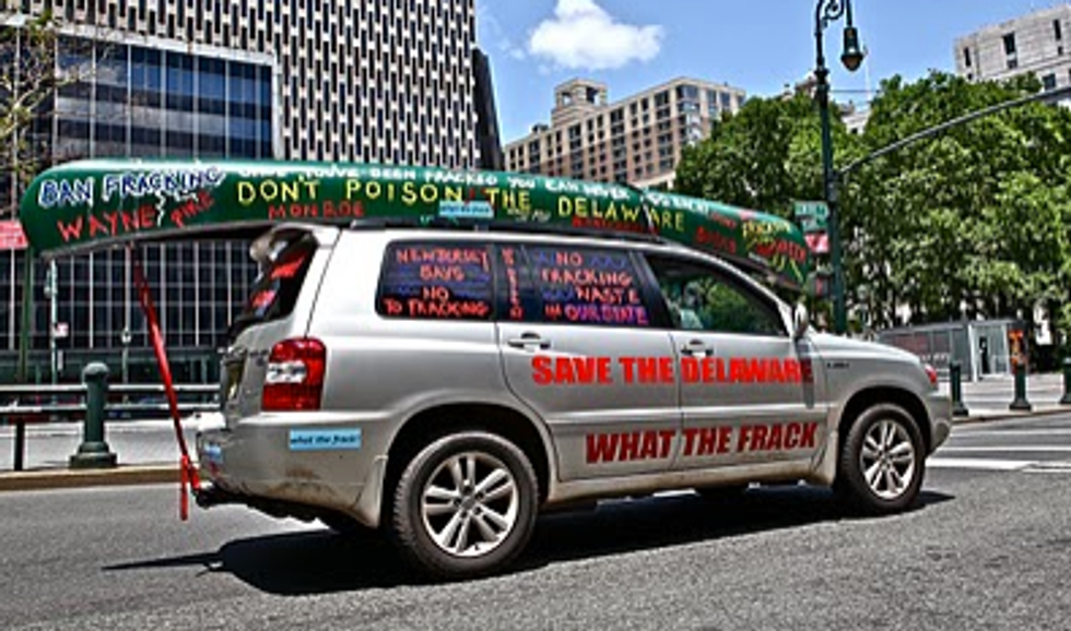 Frackmobile Hits the Streets to Ban Fracking