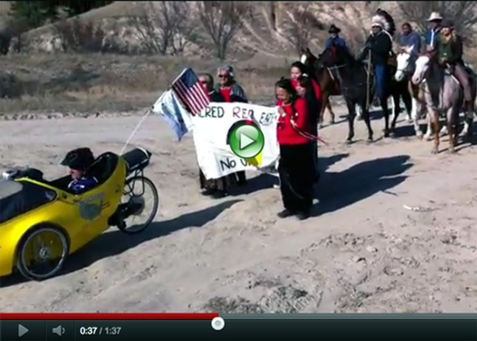 Cowboys, Indians and Daryl Hannah Ride for Renewables