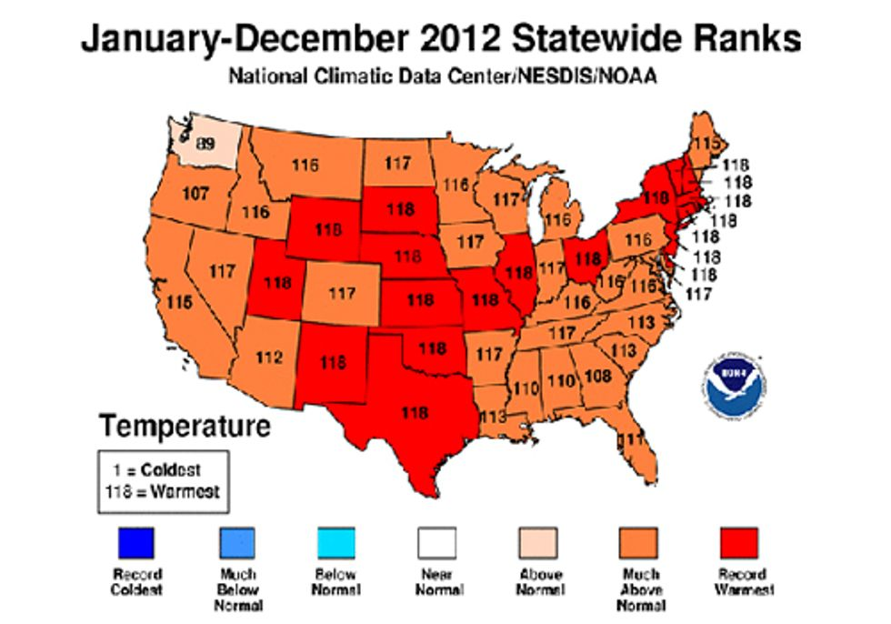2012 Officially the Warmest Year On Record
