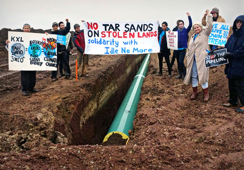 Oklahomans March Onto TransCanada Easement to Protest Keystone XL Pipeline