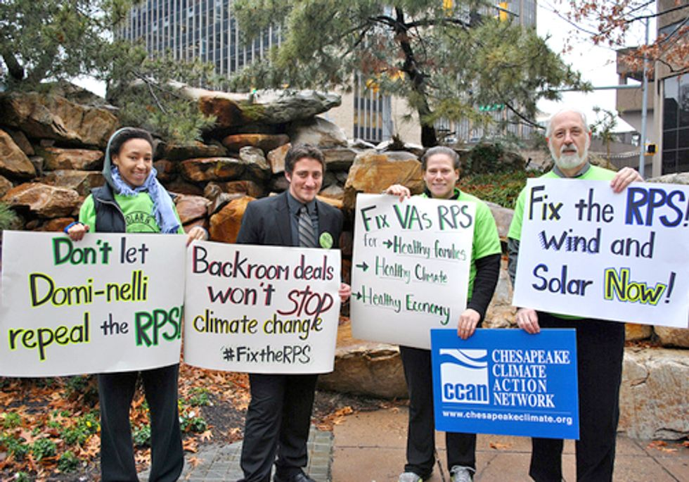 Activists Rally to Stop Repeal of Virginia Clean Energy Law