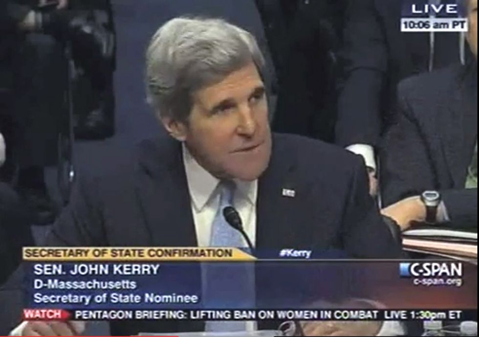 MUST SEE VIDEO: Sen. Kerry Takes Strong Stand on Climate Change at Sec. of State Confirmation Hearing
