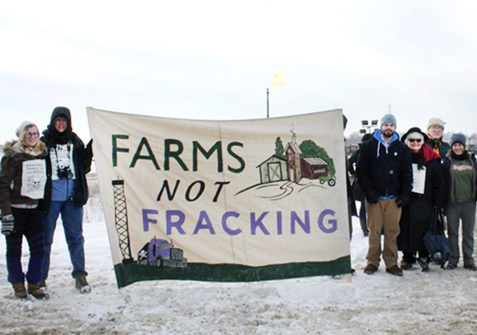 Blockade at PA Fracking Site Highlights Risks to Farms and Food