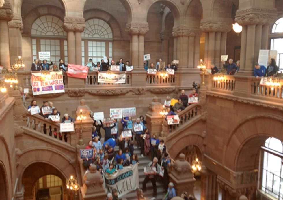 Hundreds Rally Telling Gov. Cuomo: 'Not One Fracking Well'