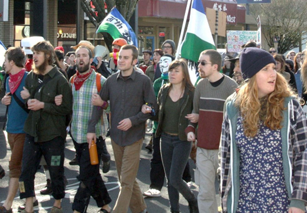150 March in Eugene to Protest Extractive Industries