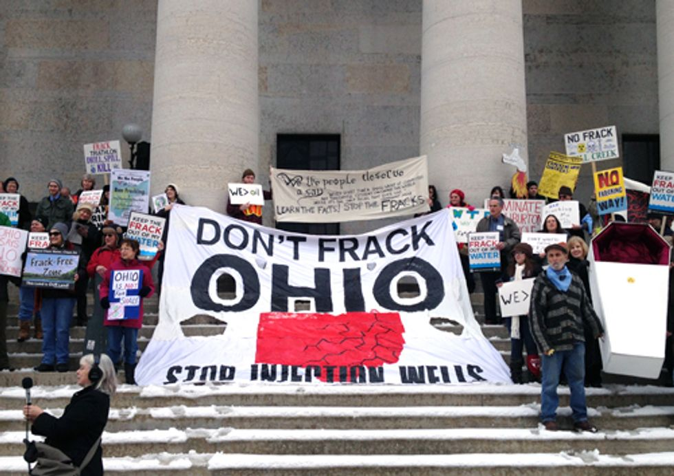 Ohioans Lobby for Support of Proposed Fracking Legislation at Statehouse Protest