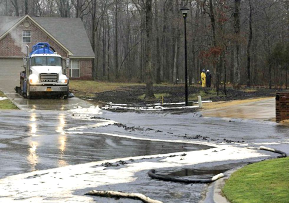 Exxon Mobil Pipeline Rupture and Train Derailment Oil Spill Exemplify Concerns of Keystone XL