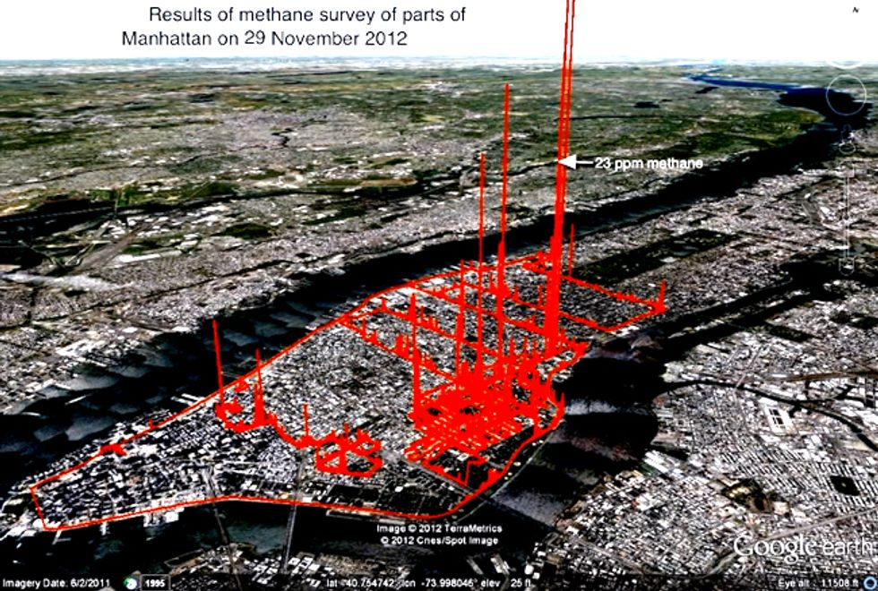 Manhattan's Methane Levels Show Natural Gas as Damaging to Climate as Other Fossil Fuels