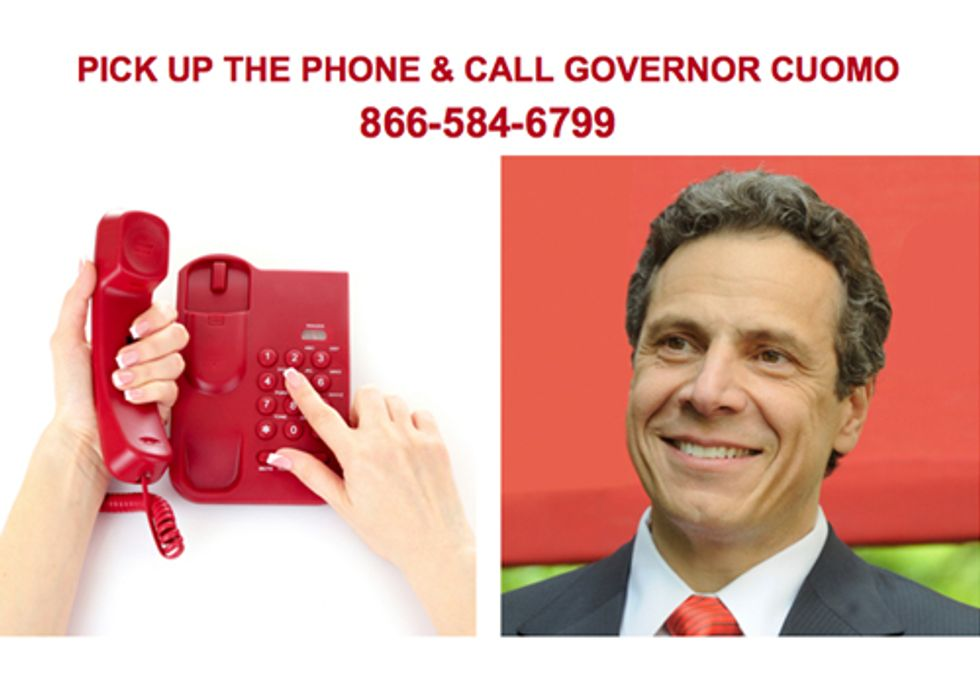 CallCuomo.com Campaign Launches to Protect New Yorkers' Health and Safety from Fracking