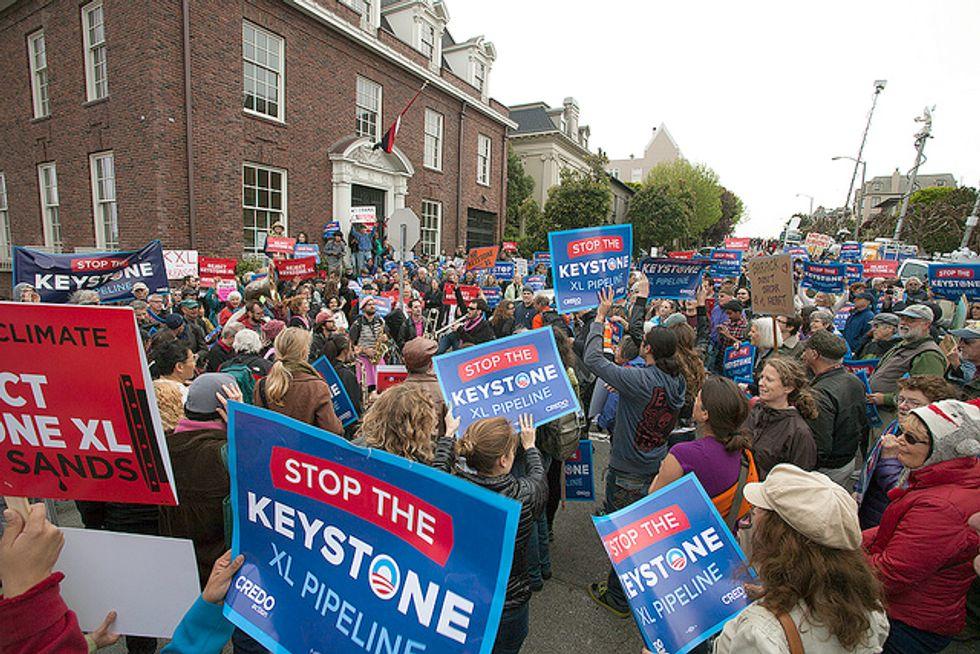 1,000+ Californians Protest Keystone XL at President Obama's Fundraiser in San Francisco
