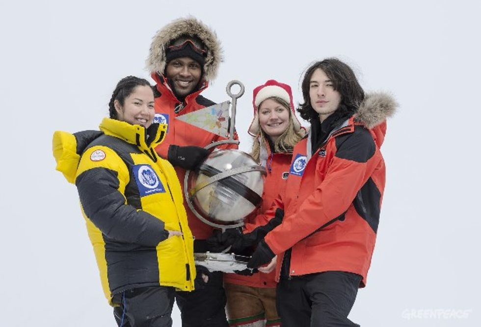 Youth Explorers Embark to North Pole to Bury Time Capsule for Save the Arctic Campaign
