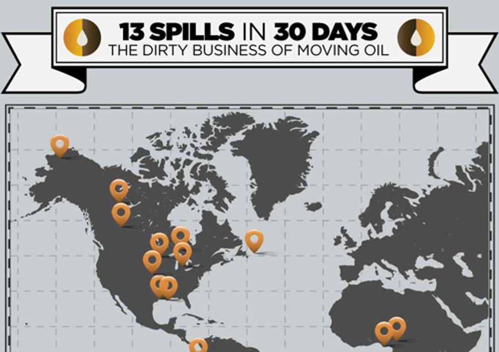 13 Spills in 30 Days