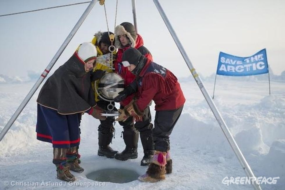 Youth Explorers Reach North Pole, Bury Time Capsule for Save the Arctic Campaign