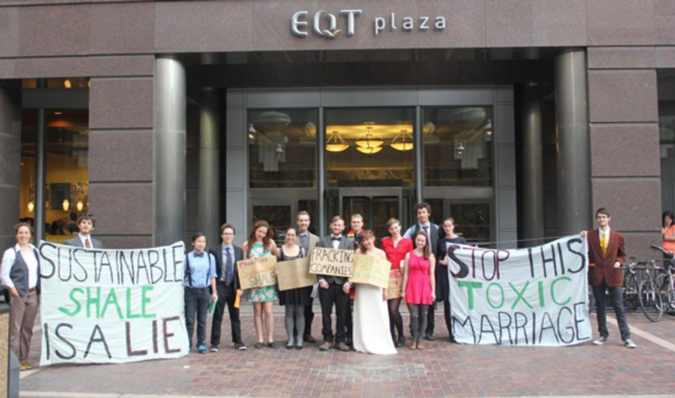 Mock Wedding Illustrates Misguided Marriage Between Fracking Industry and Environmental Groups