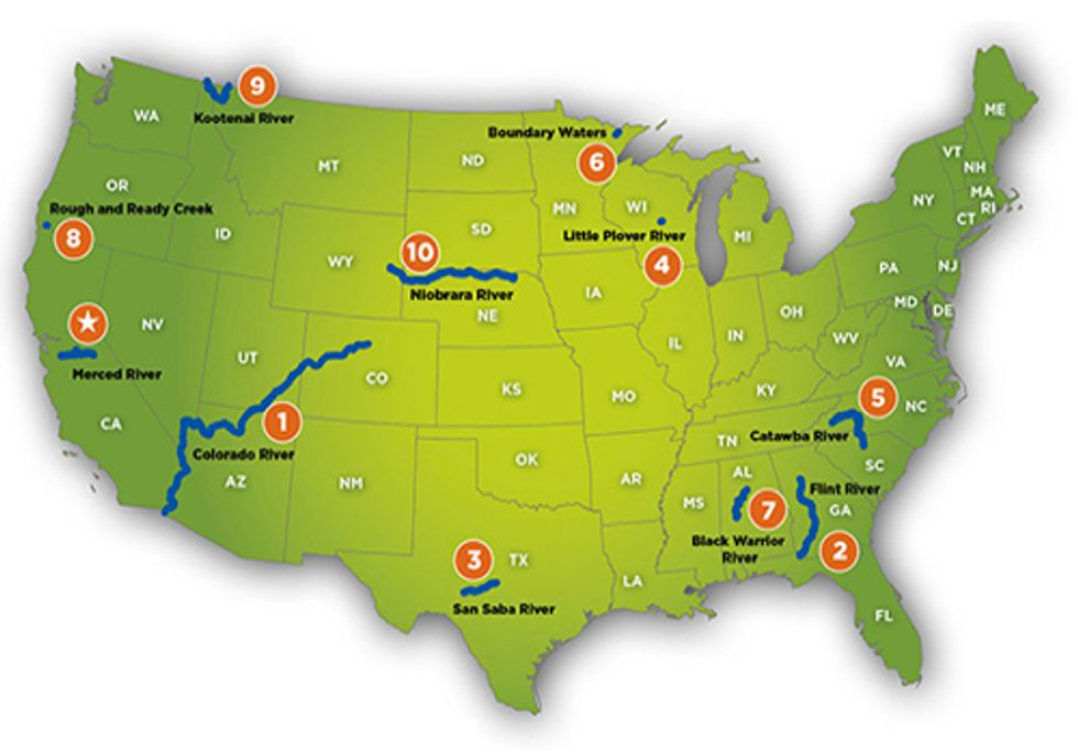 America's Most Endangered Rivers of 2013