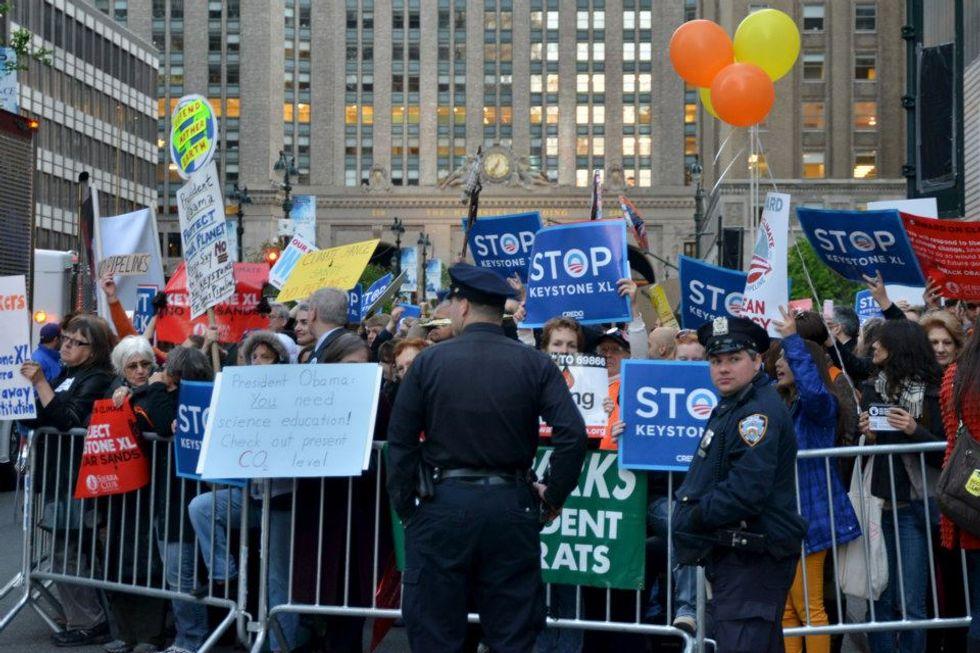New Yorkers Tell Obama: No Keystone XL, Yes Renewables