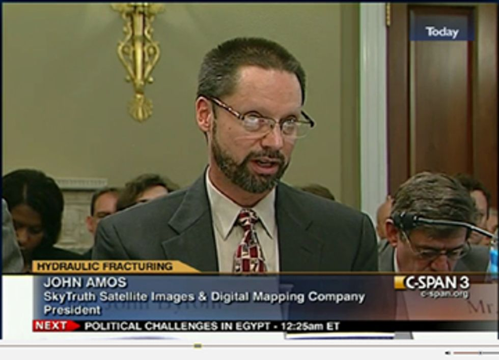 SkyTruth Testifies Before Congress on Fracking Disclosure Rules