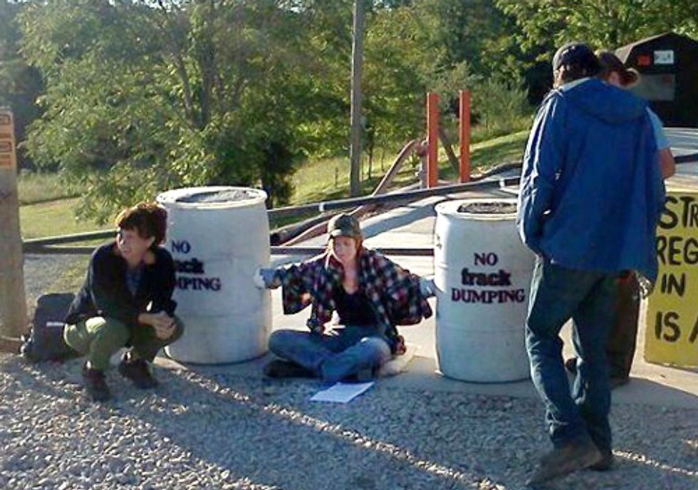 Ohio Woman Arrested for Blocking Gate to Wastewater Injection Well Site
