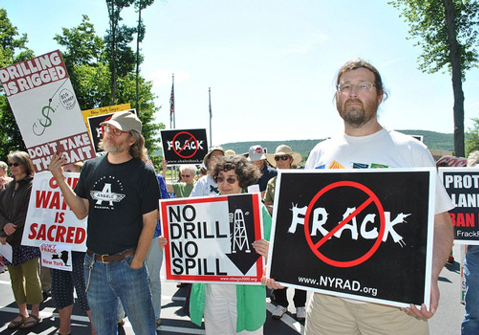 150 New Yorkers Protest Fracking at the Office of Talisman Energy USA